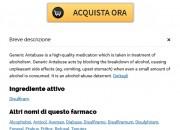 Disulfiram online migliore * Acquista Disulfiram Bologna