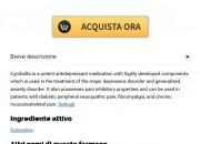 Cymbalta A Buon Mercato Genova | acquistare pillole Cymbalta